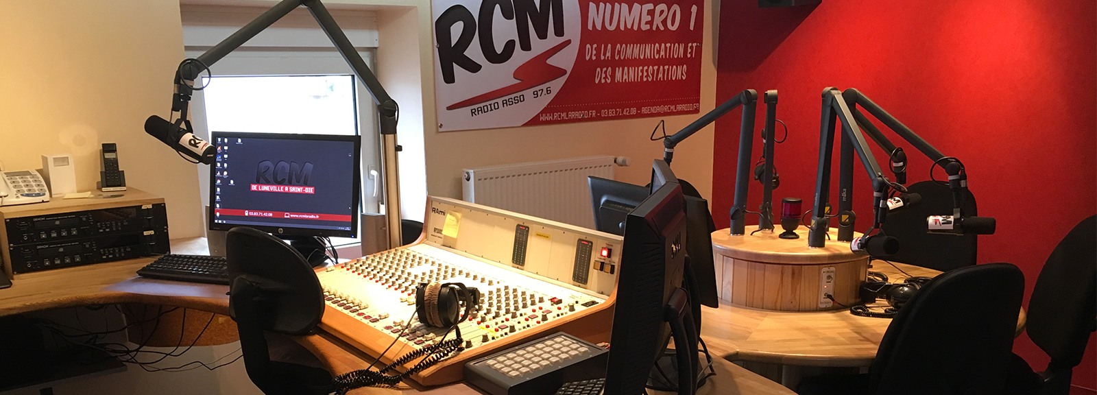 RCM - Studio de direct de Thiaville en 2016